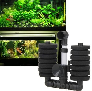 Sıcak !!! Yüksek Kalite Yeni Pratik Balık Tankı Filtre Akvaryum Biyokimyasal Sünger Filtre Fish Tank Hava Pompası PTSP