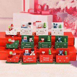 크리스마스 장식 나무 기차 크리스마스 장난감 공예 장식 아이의 장난감 어린 이용 휴일 선물 유치원 선물 DHL을