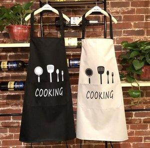 멀티 컬러 패션 앞치마 솔리드 컬러 큰 포켓 가족 요리 요리 홈 베이킹 클리닝 도구 Bib Baking Art Apron