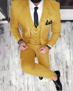 Custom-made Notch Lapel Groomsmen One Button Groom Tuxedos Men Suits Wedding Prom Dinner Best Man Blazer(Jacket+Pants+Tie+Vest) W212
