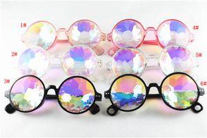 Kids Kaleidoscope Sunglasses Retro Geometric Rainbow Lens Sunglass Fashion Festive Party Glasses cool Boy girl favourite eyewear FFA3600