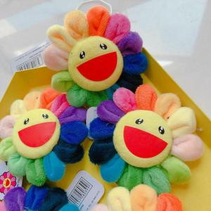 Çocuklar Sevimli Çiçek Takashi Murakami Kiki Kaikai Broş Gökkuşağı Pin Badge Kayış Peluş kolye
