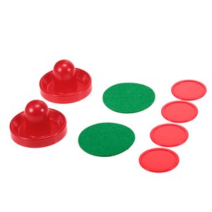 1 Set Air Hockey 76mm   96mm Plastic Mallet Pusher Puck Felt Slider Pusher Table Games Replacement Accessories Goalies