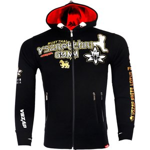 VSZAP Warm Winter Tiger Boxing T Shirt Hoodie Tracksuits MMA Clothing Breathable Cotton Fight Muay Thai MMA Kickboxi Gym Boxeo