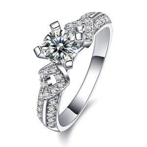 Charm Promise Ring Women's Cubic Zirconia CZ Crystal Wedding Jewelry Engagement Ring Korea Trendy Party Anniversary Gift -LY541
