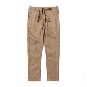 Mens Designer Casual Straight Pants Solid Color Pocket Homme Vêtements Mode Drawstring style Hip Hop Vêtements Casual