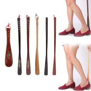 Mens donne Shell fiorisce Shoehorn Wooden Shoe manico in corno Scarpe Lifter Cucchiaio scarpe Corni accessori