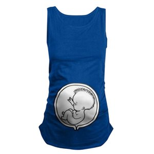 MUQGEW Women's Maternity Sleeveless Tops Cartoon Pattern Nursing Baby Vest Clothes Summer Tops Pregnancy Ropa Mujer 2019