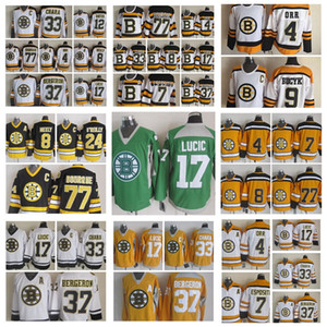 Moda Retro Boston Bruins Jersey 4 Bobby Orr 8 CAM Neely 9 Johnny Bucyk Ray Bourque Oates Intite CCM CCM STITHED HOCKEY JERSEYS