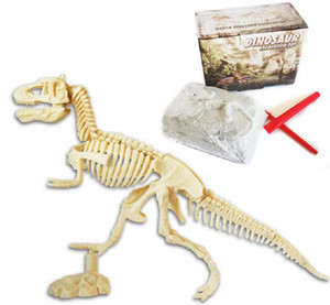 Dinosaurier-Fossil Archaeological Dig Dinosaurier DIY zusammengebautes Skelett, Simulation Dinosaurier-Spielzeug-Modell, Science Education Handgemachte Geschenke für Kinder