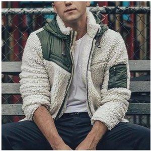 Jacket Fuzzy Zipper Fly Fashion Mens Warm Coats Casul Hooded Long Sleeve Clothing Mens Designer Winter