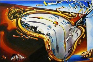 Salvador Dali macia Assista Home Decor pintado à mão HD Pinturas Imprimir óleo sobre tela Wall Art Pictures 191202