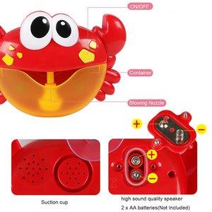 Cute Crab Bubble Machine Soap воды Автоматическое выдува пузырь с Музыка Открытый Игрушки Купания Забавные игрушки