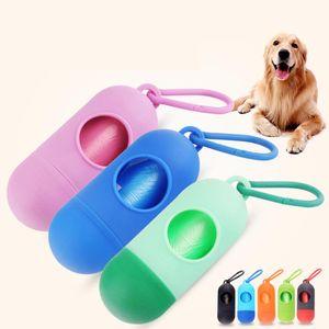 Practical Pet Dog Poop Bag Dispenser Waste Garbage Holder Dispensers + Poop Bags Set Pets Dogs Trash Cleaning Supplies