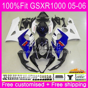 Injection Bodys For SUZUKI GSX-R1000 GSXR 1000 05 06 Bodywork 11HM.0 GSXR1000 05 06 K5 GSX R1000 GSXR-1000 2005 2006 Fairing Hot Stock blue