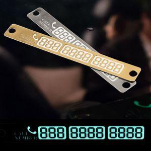 Scheda di parcheggio auto temporanea Numero di telefono Numero di notifica della carta Notturna Sucker Plate Car Styling Numero di telefono Scheda