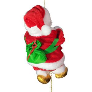 Новый Santa Claus Электрический Восхождение Jingle Лестница Творческий Рождественский подарок для детей дома двери Украшение A03