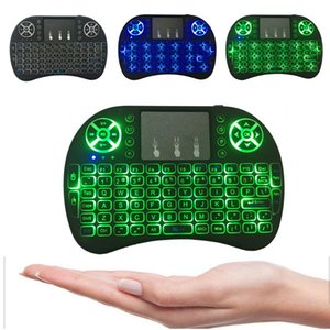 Backlit i8+ Air Mouse Mini Wireless Keyboard 2.4GHz 3 Color Touchpad Handheld for Android TV BOX X96Mini Laptop Backlight Remote