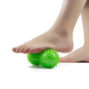 Manual de la bola del masaje de maní de punta bola de masaje de reflexología rodillo de activación muscular del alivio de tensión Punto de Terapia del Dolor Relax yoga de la aptitud de la bola