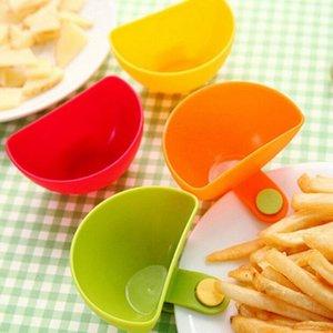 Jam Dip clip Bowl assortiti insalata salsa ketchup Ciotole di pomodoro aceto sale Zucchero Sapore Splice colazione piatto di plastica da cucina Strumenti LXL760-1
