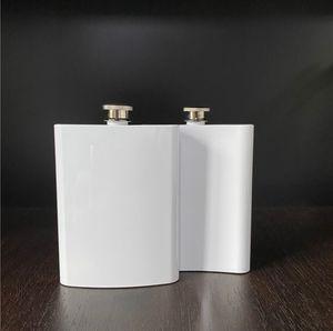 Sublimationskolben 8 Unzen Hüfte-Flasche Edelstahl 304 Doppelwand für diy Liebhaber besten Outdoor-Aktivitäten