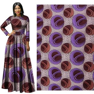 New Polyester Wax Prints Fabric Ankara Binta Real Wax High Quality 6 yards African Fabric for Party Dress free ship