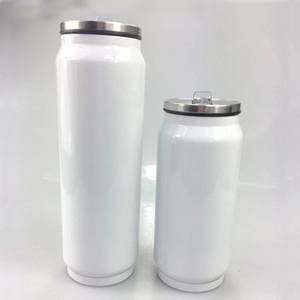 SEA A09를 통해 350 ㎖ 500ml의 승화 음료 캔 저렴한 DIY 열전 음료 텀블러 스테인레스 스틸 단열 커피 맥주 머그잔