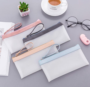 Creative Zipper Pen Case Cute Transparent Pencil Case Portable Pencil Pounch For Girls Gift School Supplies Novelty Stationery