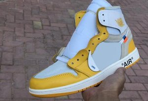 1 High Canary Yellow UNC Power Blue White Chicago Red Mens Basketball Shoes For Men Women 1s Desinger Sneakers