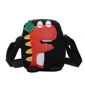 Unisex Kids Cartoon Shoulder Bag Cute Dinosaur Print Crossbody Bags Multipurpose Single Shoulder Bag  BY