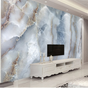 Custom Any Size Abstract Marble Stone Wall Cloth Living Room Sofa TV Background Wall Decorative Waterproof Wall Mural
