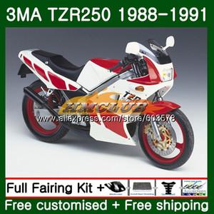 Corpo Para TZR250 3MA TZR250 1988 1989 1990 1991 121CL.33 Vermelho Branco TZR250RR TZR250 YPVS TZR 250 88 89 90 91 Fairing