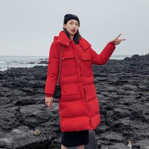 Escudo invierno de las mujeres capas de las chaquetas espesa la prendas de vestir exteriores de moda manga larga con capucha caliente abajo chaqueta al aire libre