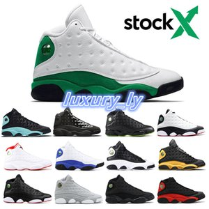 13 lucky green Altitude black cat bred Love & Respect Cap and Gown AIR 13 Men Basketball Shoes Hyper Royal Phantom sport sneaker