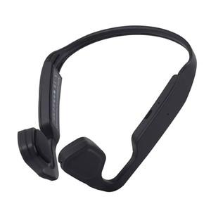 S-18 Spor Headse Kemik iletimi Kulaklık Su geçirmez Kulaklık Bluetooth 5.0 Titanyum Açık Kulak Kablosuz Kulaklık