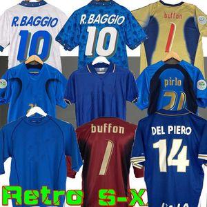World cup Retro ITALIEN 1990 1996 FUSSBALL-FUSSBALL 1994 JERSEY Maldini Baggio Donadoni Schillaci Totti Del Piero 2006 Pirlo Inzaghi buffon 2000