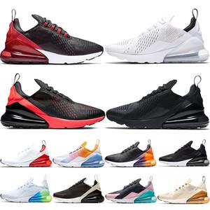 Nike Air Max 270 Новая подушка кроссовки Мужчины Женщины Спорт Дизайнерские кроссовки горячий пунш все над печатью Брюс Ли рынк дизайнеров тренеров Размер 36-45