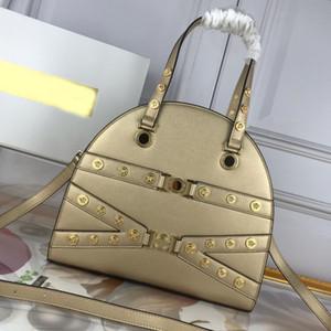 Мода сумки на ремне сумки Персер высокого качества из натуральной кожи Plain металла Картины Medusa Голова Plain Женщины Tote Bag Быстрая доставка