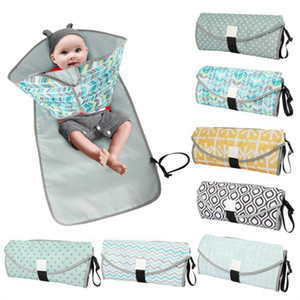Baby Urine Mat Waterproof Diaper Changing Pad Cover Foldable Clean Changing Station Travel Outdoor Nappy Bag 7 Designs DHW3906