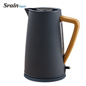 Sraintech 1800w Stainless Steel Electric Kettle With Wooden Plastic Handle 1.7l #304 Food Grade Ss Heating Water In 5 Minutes T190619