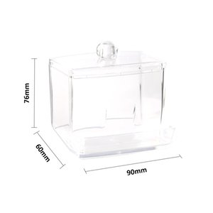 Cosmetic Storage Box New Acrylic Cotton Swabs Storage Holder Box Transparent Makeup Case Cosmetic Container