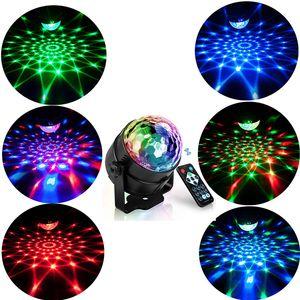 RGB أدى حزب تأثير ديسكو الكرة ضوء المرحلة ضوء مصباح الليزر جهاز العرض RGB مرحلة مصباح الموسيقى KTV مهرجان حزب LED مصباح دي جي ضوء