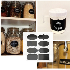 Kitchen Pantry Labels Black Chalkboard Stickers for Food Storage Container Spice Jars Canisters BQ05