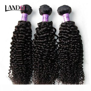 Peruvian Curly Hair Unprocessed Peruvian Kinky Curly Human Hair Weave 3Bundles Lot 8A Grade Peruvian Jerry Curl Hair Extension Natural Color