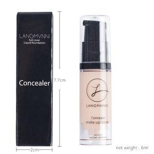 LANGMANNI Makeup Concealer Freckles Black Circles Tattoos Full Skin Concealer Facial Contour Palette Cosmetics Wholesale R0503