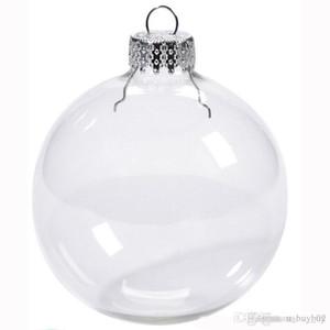"""Bola de casamento enfeites de Natal Xmas plástico bolas Decoração 80mm Balls Christmas Limpar bolas de casamento de plástico 3"""" / 80 milímetros"""