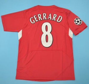 Top 2005 Gerrard Retro Maillots Alonso D.Cisse Soccer Jersey 04 05 Baros Luis Garcia Vintage T-shirt classique Smicer football