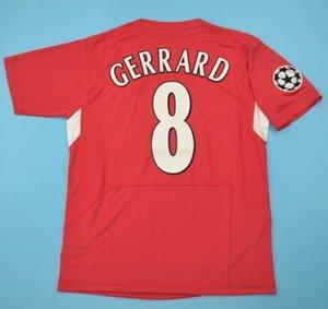 Top 2005 Gerrard retro jerseys Alonso D.Cisse jersey de fútbol 04 05 Baros Luis García de época clásica camiseta de fútbol Smicer
