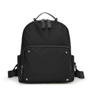 Новый черный Женщины Рюкзаки Износостойкий и водонепроницаемый плеча школы Рюкзаки Oxford Материал для девочек Практические путешествия рюкзак