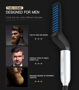 Erkekler Saç Düzleştirici Rulo Düz Sakal Tarak Kadınlar Metal EDC Kıllar Bigudi Dayanıklı ve Pratik Deneme Sipariş Ücretsiz Kargo